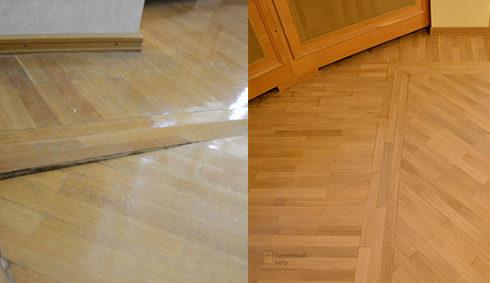 Восстановление деревянного покрытия в СПб