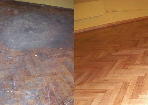 До и после шлифовки